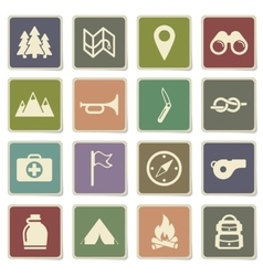 Boy scout simply icons vector