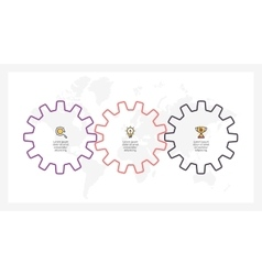 Business infographics timeline with 3 gears vector