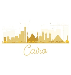 Cairo City skyline golden silhouette vector image vector image