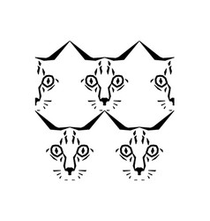 Call me cat pattern vector