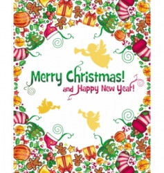 Christmas composition vector image vector image