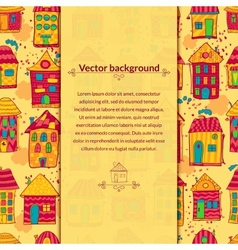 Colorful houses background with pace for text vector image vector image
