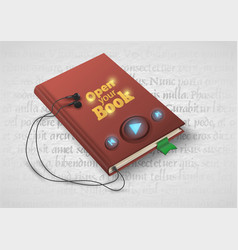 Concept of audio book with headphones vector