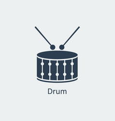 drum icon silhouette icon vector image