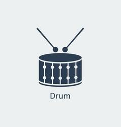Drum icon silhouette icon vector