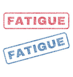 Fatigue textile stamps vector