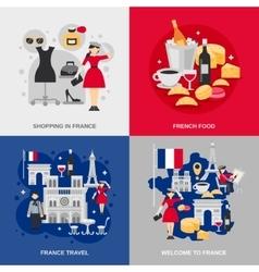 France flat set vector