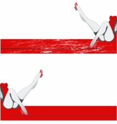 Girl legs banner vector