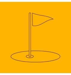 Golf field line icon vector