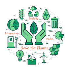 green save the planet concept vector image