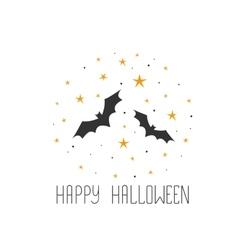 Happy halloween message design background sketchy vector