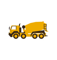 Icon concrete mixer construction machinery vector