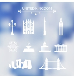 Landmarks of United Kingdom vector image vector image