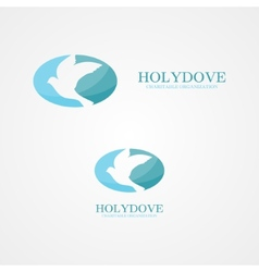 Logo dove of peace vector image