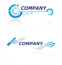 logo for modern company vector image vector image