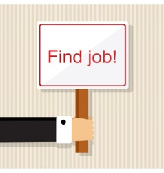 Looking for a job vector image