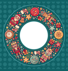 merry christmas background textless template vector image vector image