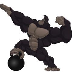 Monkey athlete vector image