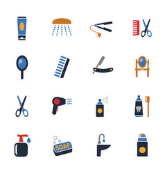 personal care icon set vector image vector image