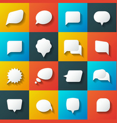 Retro converse speech bubble icons vector image vector image