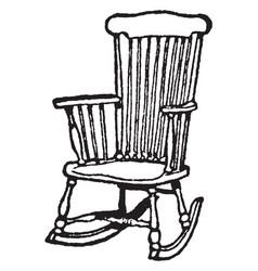 Rocking chair vintage vector