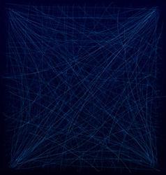 Spiderweb blue vector image vector image