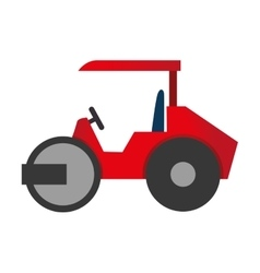 steamroller truck construction icon graphic vector image