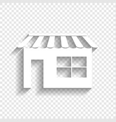Store sign white icon with vector