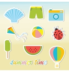 Summer time elements vector image vector image