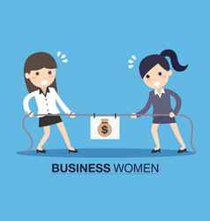 Two business women in career race vector