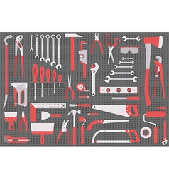 Wall with tools vector