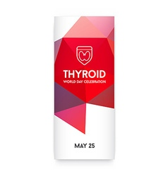 World thyroid day thyroid solidarity day vector