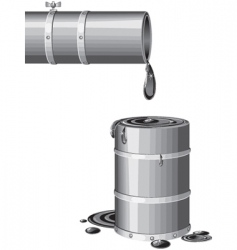 last barrel vector image