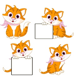 Cute cat cartoon collection vector