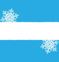 White snowflakes on blue vector image