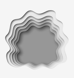 3d abstract paper cut gray background vector image