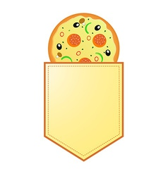 Pizza with banner with your information vector