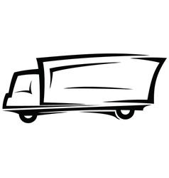 Delivery truck sketch vector