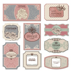 set of retro vintage labels vector image