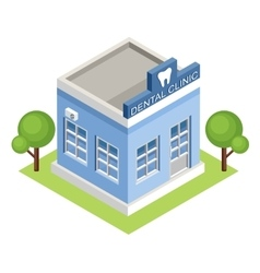 Isometric dental clinic vector