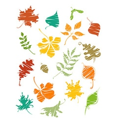 Painted leaves vector