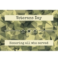 Brochure poster templates in veterans day vector