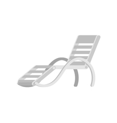 Wooden beach chaise longue vector