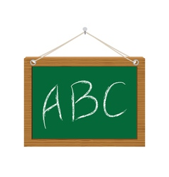 Chalkboard with abc vector
