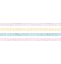 Abstract textile colorful stripes horizontal vector image vector image
