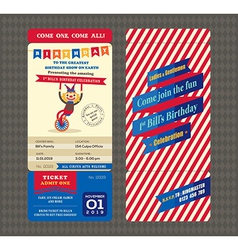 Birthday card boarding pass style vector