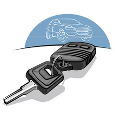car keys vector image vector image
