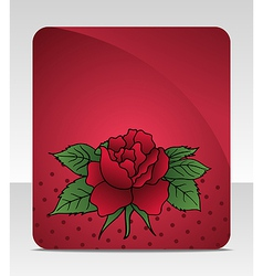celebration card with rose - vector image
