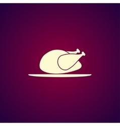Chicken icon vector