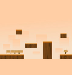 Collection style with box game background vector